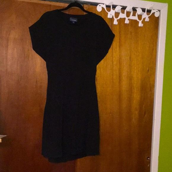 Cute Black Skater Dress w/Back Cut-out Sz XL